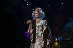 Agne Konciute for Dolce & Gabbana Alta Moda Spring 2017 Haute Couture Show in Milan