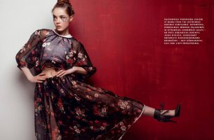 Our new face Milda for latest Panele magazine issue
