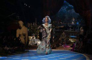 Agnė Končiūtė Dolce & Gabbana mados namų alta moda kolekcijos pristatyme Milane